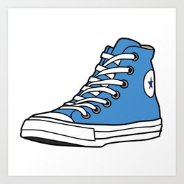 High-top Sneaker Art Print
