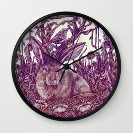 Rabbit Horns Wall Clock