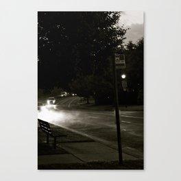 A Modern Foggy Night Canvas Print