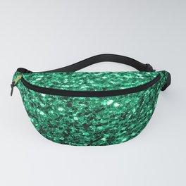 Beautiful Emerald Green glitter sparkles Fanny Pack
