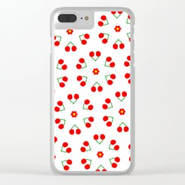 Cherry Blossoms Pattern Clear iPhone Case