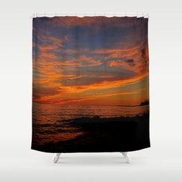 First Sunset of Summer Shower Curtain
