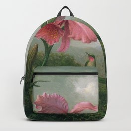 Orchid And Hummingbird Near A Mountain Waterfall 1902 By Martin Johnson Heade   Reproduction Backpack