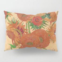 Still Life: Vase with Fourteen Sunflowers by Vincent van Gogh Pillow Sham
