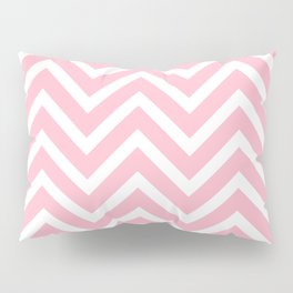 Chevron Stripes : Pink & White Pillow Sham