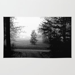 Black and White Woods Rug