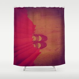 The Girl in the Red Dress Shower Curtain