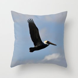 Pelican Flight Throw Pillow