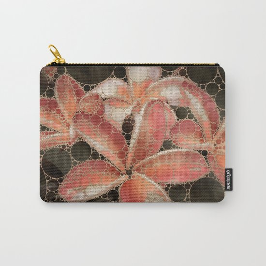 Percolated Tropical Flowers Carry-All Pouch