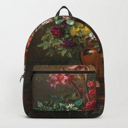 Georgius Jacobus Johannes van Os - Still life with flowers in a Greek vase - 1817 Backpack