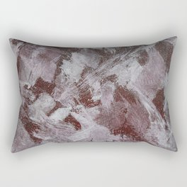 White Ink on Red Background Rectangular Pillow