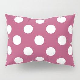 Irresistible - violet - White Polka Dots - Pois Pattern Pillow Sham