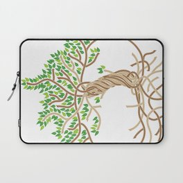 Rope Tree of Life. Rope Dojo 2017 white background Laptop Sleeve
