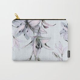 white lilies Carry-All Pouch
