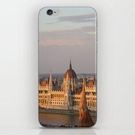 Budpest Sunset over Parliament iPhone Skin