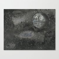 death star Canvas Prints featuring death star by Dan Solo Galleries