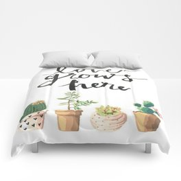 Love Grows Here Comforters