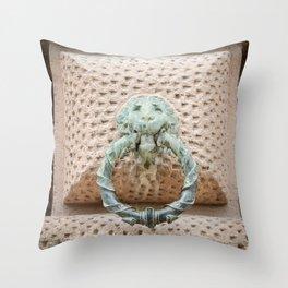 Lion Motif Throw Pillow