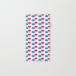 flag of panama 2 -Panama,Panamanian,canal,spanish,San Miguelito,Tocumen,latine,central america,panam Hand & Bath Towel