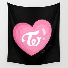 Twice what is love Wall Tapestry