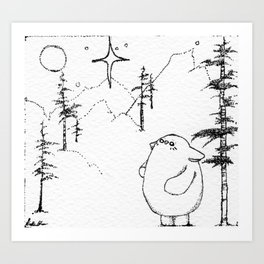 Bostwick the star gazer Art Print