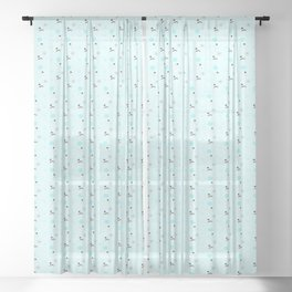 Mr. and Mrs. Snowman Sheer Curtain