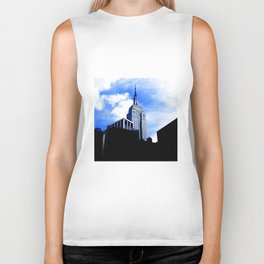 Empire State Building in New York City Biker Tank