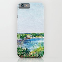 Frederick Childe Hassam - The Little Pond, Appledore - Digital Remastered Edition iPhone Case