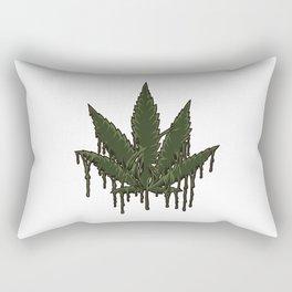 Melting Cannabis Leaf | Marijuana THC CBD Stoner Rectangular Pillow
