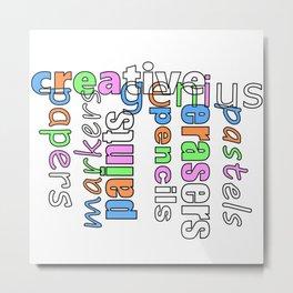 Creative Genius - Font Art Metal Print