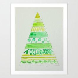 All the greens Christmas tree Art Print