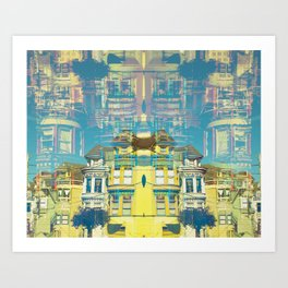 Row Houses Multiply Art Print