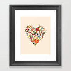 You Make My Heart Grow Framed Art Print