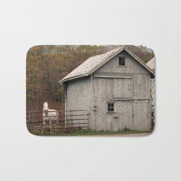 Farm with Barn and Horse Bath Mat