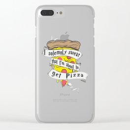 Solemnly Pizza Clear iPhone Case