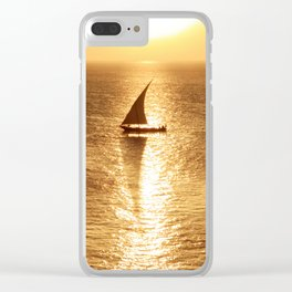 African Dhow At Sunset Clear iPhone Case