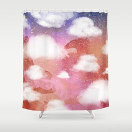Sunset Above the Island Shower Curtain
