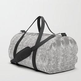 Feather Pattern | Grey and White Duffle Bag