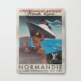 Normandie x LV (Vintage) Metal Print