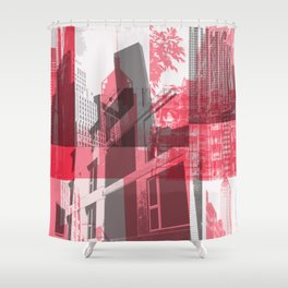 city life New york Shower Curtain