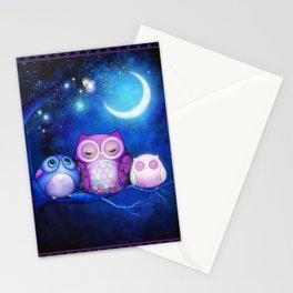 Night Owls & Fairy Lanterns Stationery Cards