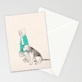 girl n dog Stationery Cards