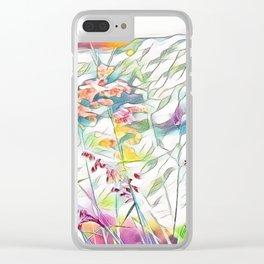Pastel Flower Garden Watercolor Clear iPhone Case