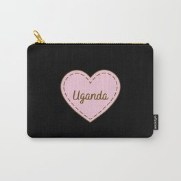 I Love Uganda Simple Heart Design Carry-All Pouch