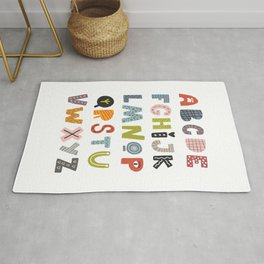 Decorative Alphabet Rug
