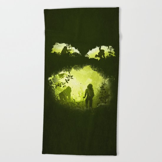 In the Heart of the Jungle Beach Towel