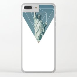 Statue of Liberty - Geometric Photography Clear iPhone Case