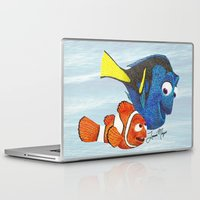 nemo Laptop & iPad Skins featuring Finding Nemo by Larissa