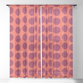 Hostel ceramic tile pattern Sheer Curtain