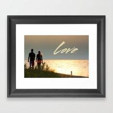 Love at Sunset Framed Art Print